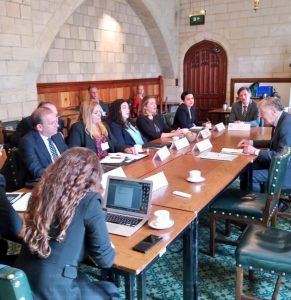 Lord Dubs talks to visiting Foreign Affairs Committee Delegation from Kososo