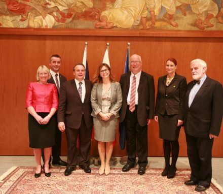 The APPG delegation with Ms Masa Kociper MP, Chair of the Slovenian Parliament's British Friendship Group
