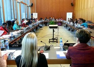 Women Speakers engaged in detailed exchanges on women's role in the global economy, including barriers to their contribution