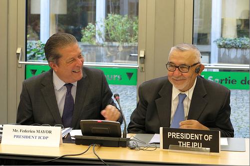 IPU President Radi and ICDP President Mayor