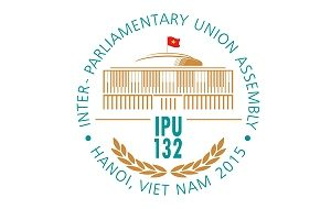 The logo of the 132nd IPU Assembly in Hanoi, Vietnam