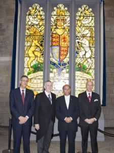The President and delegation greeted in Westminster Hall by Lindsay Hoyle MP, Deputy Speaker and Chairman of Ways and Means