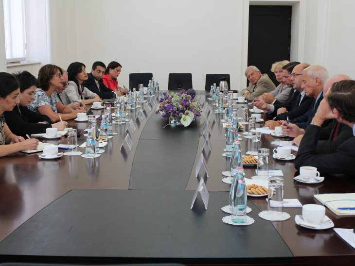 BGIPU Delegation in Discussions with the Georgian Foreign Minster Dr Maia Panjikidze