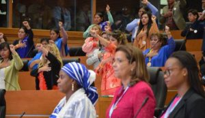 Women's leadership and the equal participation of women and men in public affairs and decision-making are matters of human rights which are key elements of democracy and lasting peace, and prerequisites for achieving sustainable development. © Bolivian Parliament