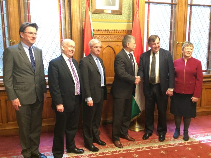 UK Delegation led by Rt Hon John Whittingdale OBE MP meet the Speaker of the Hungarian National Assembly, Dr Laszlo Kover