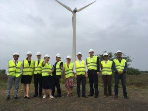 The UK delegation vists the Cabeolica wind farm