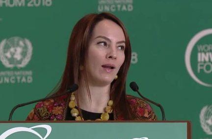 IPU President Gabriela Cuevas Barron addresses the World Investment Forum