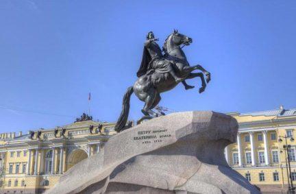 Bronze Horseman monument, St. Petersburg, Russia