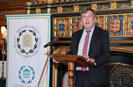 BGIPU Chair Rt Hon John Whittingdale MP, talked about the values of the IPU being as relevant for the world today, as ever.