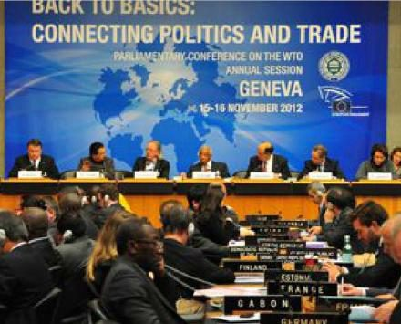The annual 2012 session of the Parliamentary Conference on the WTO was held in Geneva on 15-16 November 2012.