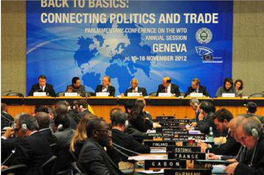 The annual 2012 session of the Parliamentary Conference on the WTO was held inGeneva on 15-16 November 2012.