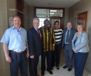 The APPG Great Lakes delegation with the Rwandan Minister for Finance and Economic Planning H.E. Claver Gatete and Secretary to the Treasury, Ms. Kampeta Sayinzoga.