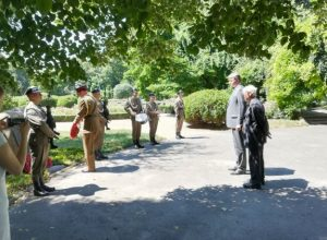 Daniel Kawczynski MP laid a wreath on behalf of the House of Commons and Lord Wallace of Saltaire on behalf of the House of Lords at the site of a crashed RAF plane which was dropping supplies to the Polish in the Warsaw Uprising.