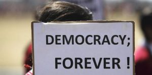 Democracy is founded on the primacy of the law and the exercise of human rights. © Omar Sobhani