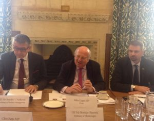 The Balkans roundtable was chaired by BGIPU Vice-Chair Mike Gapes MP
