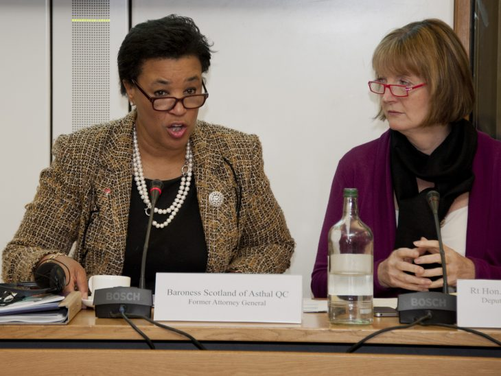 Baroness Scotland and Rt Hon. Harriet Harman MP
