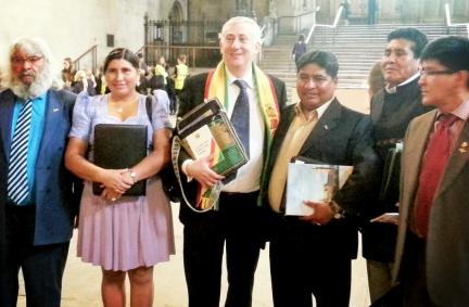 Bolivian Delegation with Deputy Speaker Lindsay Hoyle MP