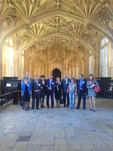 Armenian Delegation visit to Bodleian Library in Oxford with Prof Van Lint