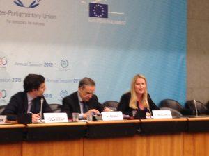 UK MEP, Emma McClarkin speaks at the event