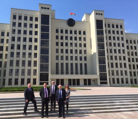 Delegation in front of the House of Deputies (Lower House)