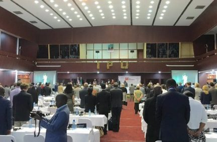 IPU delegates stand in silence to honour victims of terrorist attacks in Brussels on 22 March