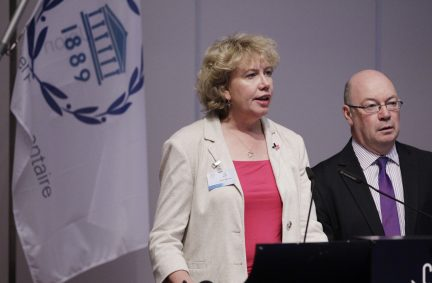 Meg Munn MP and Alisair Burt MP deliver a joint UK statement on gender equality and violence against women