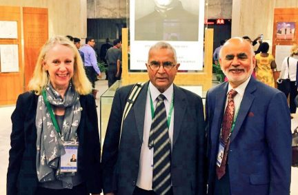UK Delegation members Liz McInnes, Lord Dholakia and Lord Rana visit the Bangladesh Parliament