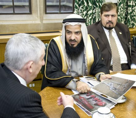 The deputy speakers discussing the security situation in Bahrain.jpg