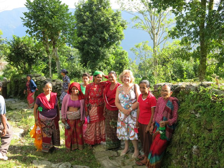 Baroness Northover discusses clean energy initiatives with Nepalese women