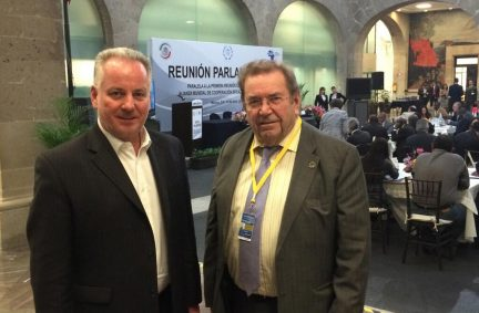 Lord McConnell and Lord Chidgey at Global Partnership HLM in Mexico City