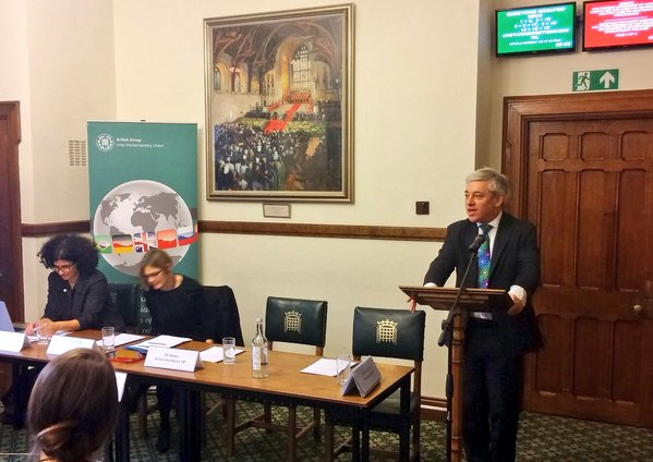 The Speaker of the House of Commons, Rt Hon John Bercow MP, underscored his commitment to working towards a more gender sensitive parliament for the UK