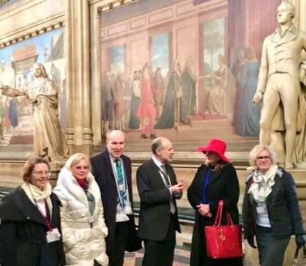 The delegation had a tour of Parliament with Shadow Minister for Peace and BGIPU ExCo member Fabian Hamilton MP.JPG