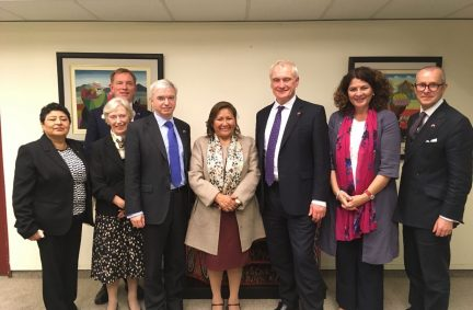 The UK delegation meets with the Minister for Woman's Affairs