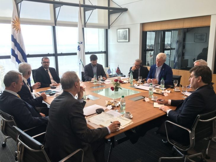 UK Delegation meets Dr Juan Andres Roballo, President of the National Drug Board. and the Secretary-General, Lic. Diego Martin Olivera