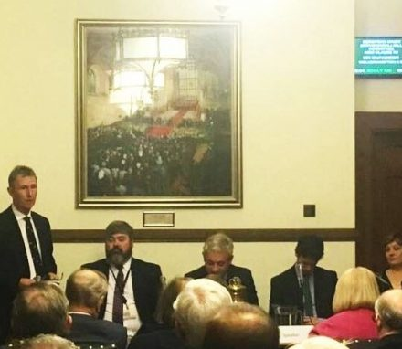 Re-elected Chair Nigel Evans MP addresses the AGM on key activites in 2017.JPG