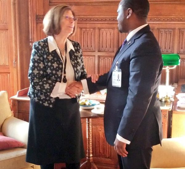 Speaker Guillaume Soro with the Lord Speaker