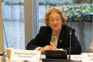 Baroness Stern speaks at closing session