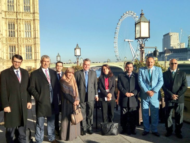 Iraq delegation during a tour of the UK Parliament with Tim Loughton MP