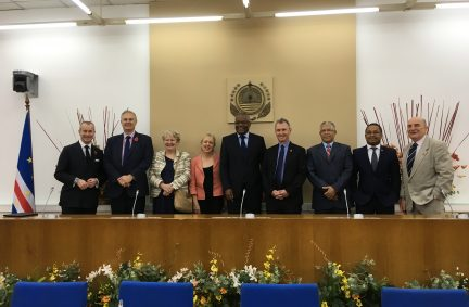 UK Delegation welcomed to Cabo Verde by Speaker Dos Santos