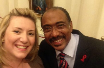 APPG Chair Pamela Nash MP and UNAIDS Executive Director, Michel Sidibe in Melbourne