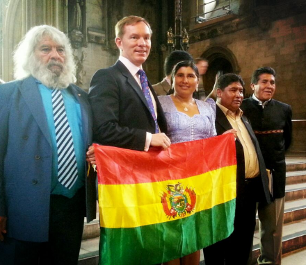 Bolivian Delegation tour Parliament with Chris Bryant MP