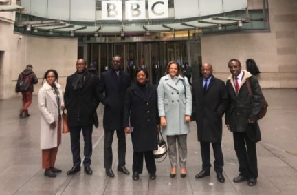 Parliamentary delegation from Angola visit BBC HQ to meet the Africa Team at the BBC World Service