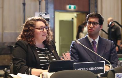 UK MPs Danielle Rowley MP and Ranil Jayawardena MP attend the previous Young MPs conference held in Ottawa in November 2017.