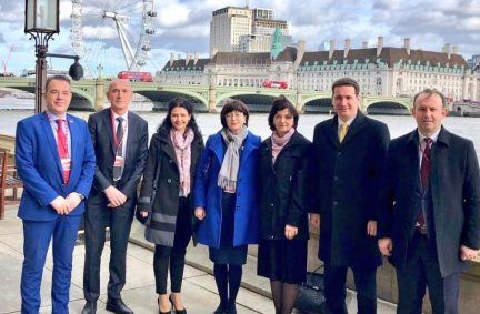 The delegation visited the UK Parliament to hear more about Brexit and to strengthen relations between the UK and North Macedonia