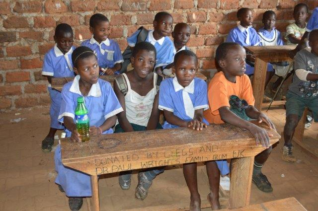 Due to overcrowed classrooms the children previously had to squeeze 6 to a desk