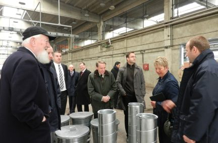 The Delegation visiting a factory.