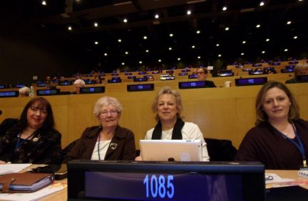 BGIPU Delegation to CSW (from Left to right: Sharon Hodsgon MP, Baroness Prosser, Baroness Hodgson, Mary Macleod MP)
