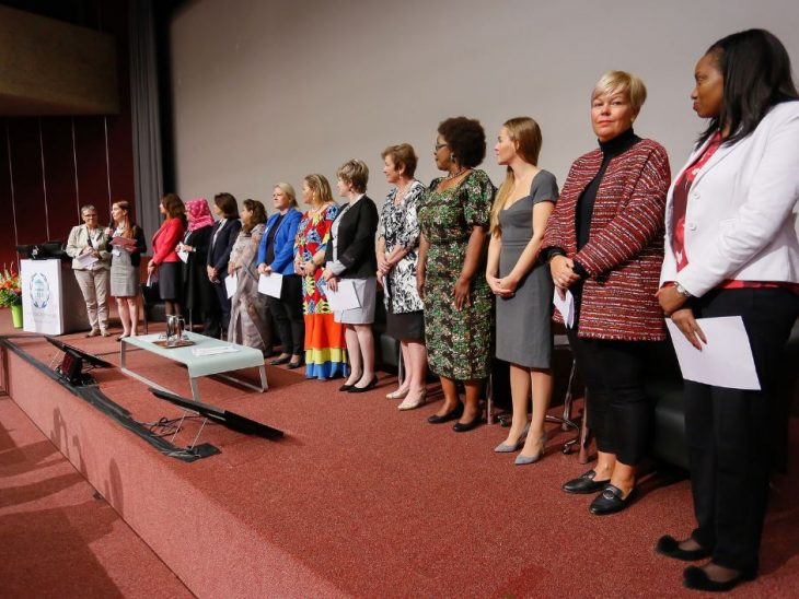 Women MPs at the launch of the IPU/PACE report in October 2018. ©IPU