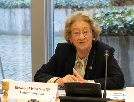 Baroness Stern at closing session