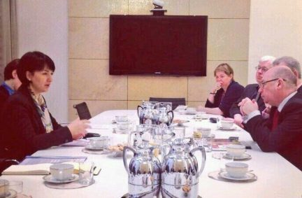 UK delegation discusses European security with MFA Under Secretary of State Moscicka-Dendys